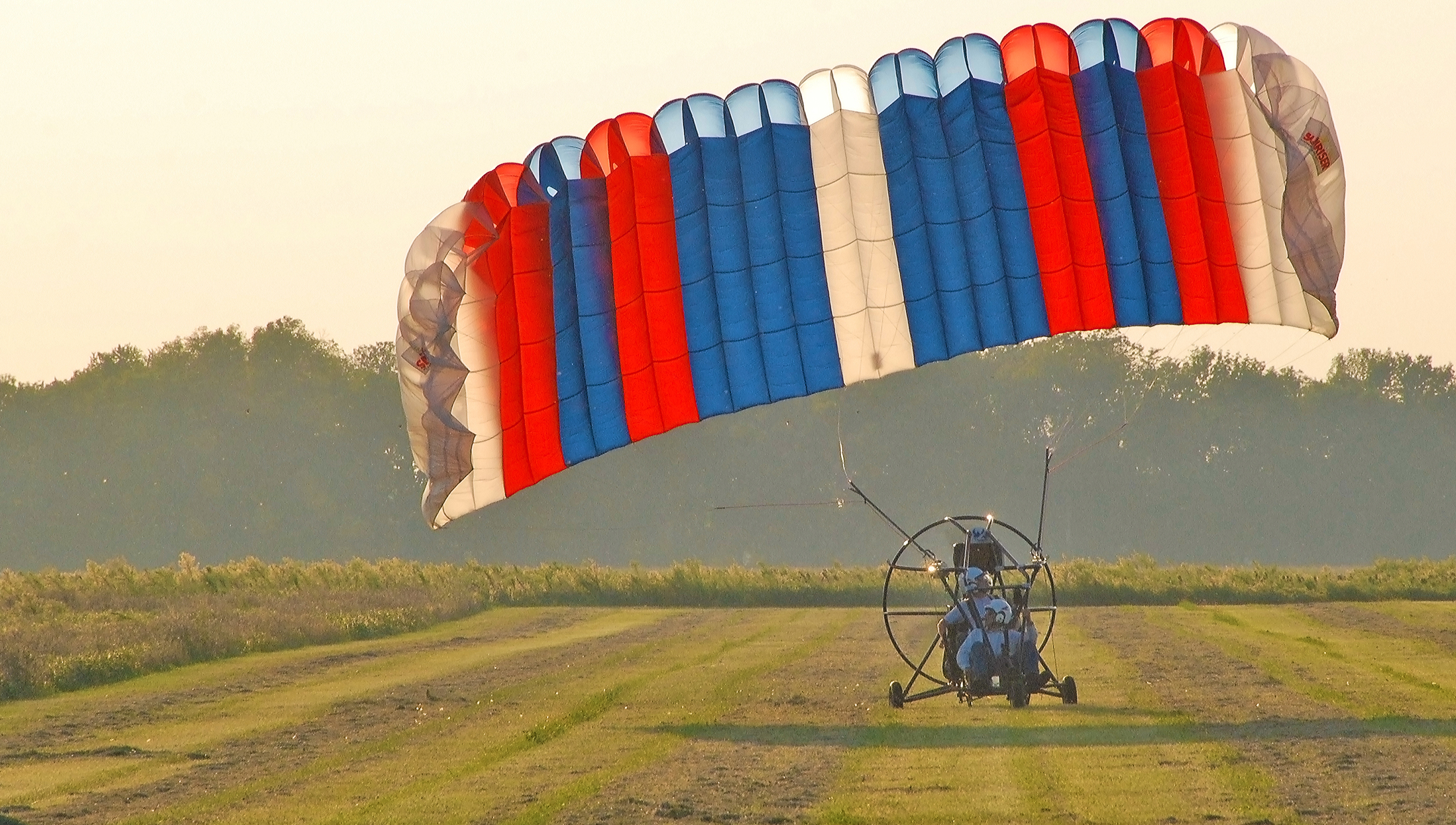 Powered Parachute Taking Off at the Greenville Airport